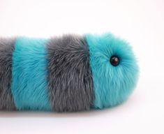 Stuffed Animal Cute Plush Toy Caterpillar Kawaii by Fuzziggles $48.95