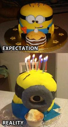 Funny pictures about Minion cake goes terribly wrong. Oh, and cool pics about Minion cake goes terribly wrong. Also, Minion cake goes terribly wrong. Funny Fails, Funny Memes, Hilarious, It Netflix, Baking Fails, Food Fails, Minion Birthday, Birthday Cake, Minion Party