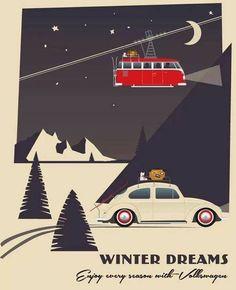 Deco VW Beetle christmas