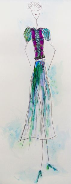 Bekki Gibb Fashion illustration collection 04