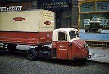 A Scammell Scarab truck in British Railways livery, London, British Railways was involved in numerous related businesses including road haulage Vintage Trucks, Old Trucks, Lifted Trucks, Antique Trucks, British Railways, Old Lorries, Classic Chevy Trucks, Classic Cars, Chevy Classic