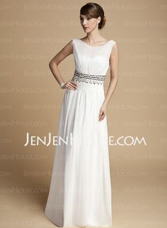 Mother of the Bride Dresses - $136.99 - A-Line/Princess Scoop Neck Floor-Length Chiffon Charmeuse Mother of the Bride Dresses With Ruffle Beading (008014713) http://jenjenhouse.com/A-line-Princess-Scoop-Neck-Floor-length-Chiffon-Charmeuse-Mother-Of-The-Bride-Dresses-With-Ruffle-Beading-008014713-g14713