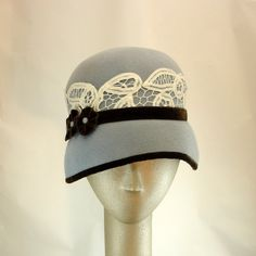 Cloche Hat for Women 1920s Fashion Hat Fur by TheMillineryShop, $255.00