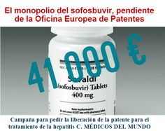El monopolio del sofosbuvir, pendiente de la Oficina Europea de Patentes