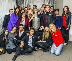 The cup with our team at Thompson Chicago. We won't forget this night! Go Hawks.