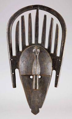 "Africa   ""ntomo"" mask from the Malinke people of Mali   Wood"