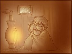 """""""I'm sorry!"""" He said apologetically. He realized he had kept her so long a blizzard had started outside. With that kind of storm, there was no way she could make it home.  """"You should stay here until it passes. Though…"""" Link scratched the back of his head, """"It's not very warm here…""""  She just smiled, """"We'll manage.""""  ~~~  Wanted to draw some 1900's chibis being cute."""