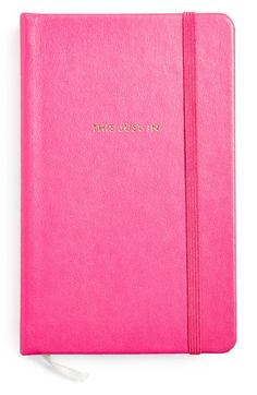kate spade new york medium pink notebook
