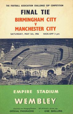 Portsmouth Cardiff FA Cup Final Poster of Programme