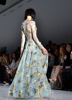 09c26b6bbacb Ralph   Russo Spring-Summer 2017 Blue Gown