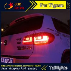 441.75$  Buy now - http://ali68s.worldwells.pw/go.php?t=32232156082 - Car Styling tail lights for VW Tiguan 2009-2012 LED Tail Lamp rear trunk lamp cover drl+signal+brake+reverse