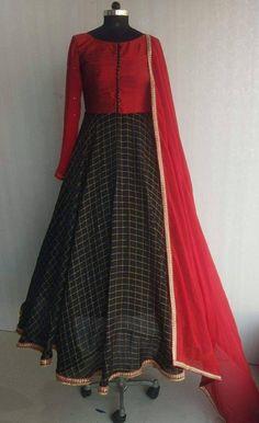 Ideas for dress pattern simple patrones Salwar Designs, Kurta Designs Women, Kurti Designs Party Wear, Modest Clothing, Modest Dresses, Modest Outfits, Long Dresses, Indian Designer Outfits, Indian Outfits
