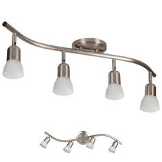 Bennington Sheridan Ceiling or Wall Track Lighting, Brushed Nickel – Residential Lighting Track Lighting Kits, Kitchen Lighting Fixtures, Kitchen Pendant Lighting, Light Fixtures, Bathroom Lighting, Lighting Ideas, Room Lights, Ceiling Lights, Residential Lighting