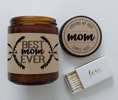 Best Mom Ever Candle Gift For Mother 9 oz Soy Candle Personalized Candle Custom Gift For Mom Holiday Gift for Mum Mothers Day Gift