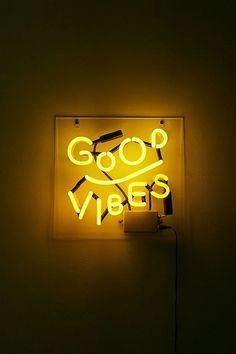 Good Vibes Neon Light - #nails #long #longnails