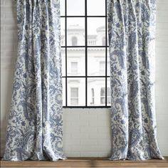 Samantha Paisley Semi-Opaque Single Rod Pocket Curtain Panel | Joss & Main