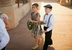 20's inspired flower girl and ring bearer