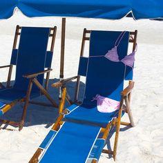 Blue sun chair