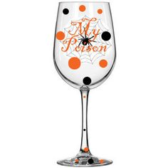 Halloween Wine Glass. $13.50, via Etsy.