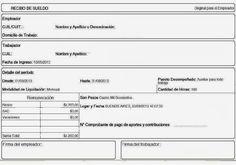 cómo imprimir el recibo de sueldo recibo de sueldo pinterest