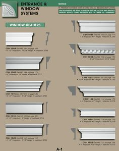 20 Most Popular Exterior House Molding Design Ideas If you're still unsure about why crown molding might be an excellent option for your living space, Exterior Window Molding, Vinyl Window Trim, Interior Window Trim, Door Molding, Moldings And Trim, Moulding, Crown Molding, Baseboard Molding, Window Casing