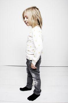 Mini Rodini Lightning print long sleeve and jeans.