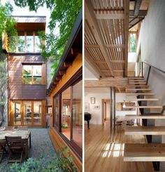 Relaxing Garden On Modern And Minimalist Bernier-Thibault Residence Located In Montreal