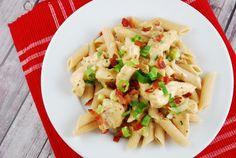 Chicken Bacon Ranch Pasta Recipe - 6 Points + - LaaLoosh