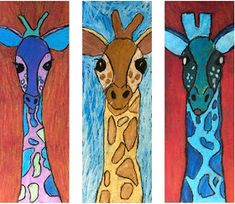 The Rolling Artroom: Giraffe Portraits Grade) Art Club Projects, Animal Art Projects, Classroom Art Projects, School Art Projects, Art Classroom, 3rd Grade Art Lesson, Third Grade Art, Art Lessons For Kids, Art Lessons Elementary