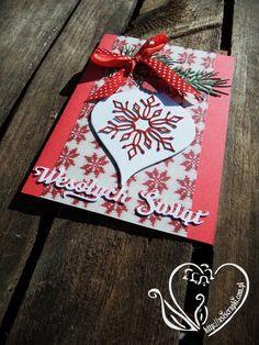 Kartka Bożonarodzeniowa czerwona #asiscrapki