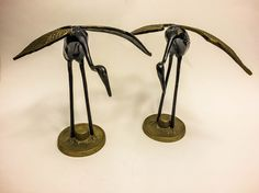 A personal favorite from my Etsy shop https://www.etsy.com/listing/224280273/sale-vintage-1960s-brass-crane-figurines