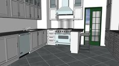 including laundry room and animation, floor tiles are Viking appliances, Miele washer and dryer Viking Appliances, Kitchen Cabinets, Kitchen Appliances, Kitchen Models, 3d Warehouse, French Door Refrigerator, Washer And Dryer, Laundry Room, Tile Floor