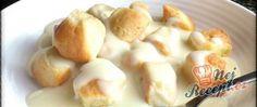 Recept Dukátové buchtičky s banánovým krémem Garlic, Vegetables, Food, Essen, Vegetable Recipes, Meals, Yemek, Veggies, Eten