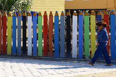 Cay Caulker, Belize, crayon fence | Flickr - Photo Sharing!