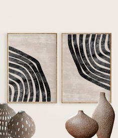 Diy Canvas Art, Diy Wall Art, Modern Art Prints, Wall Art Prints, Diy Tableau, Neutral Art, Organic Art, Black And White Wall Art, Geometric Wall Art