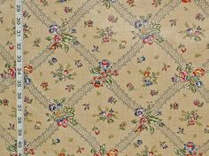Vintage chintz floral fabric