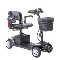 Spitfire 1420EX Four-Wheel Compact Travel Scooter by Drive Medical. #scooter #mobility #disability #geriatric #elder #Spitfire #DriveMedical https://www.facebook.com/VidaCura | info@vidacura.com | 1-800-704-8432