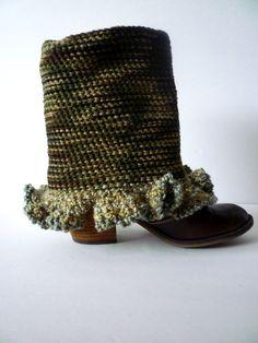 Camouflage Crochet Leg Warmers by TaMuidBeo on Etsy, $25.00