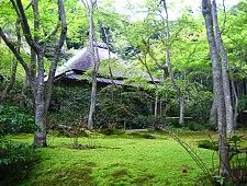 Great page on Kyoto Travel: Arashiyama and Sagano. This picture is the Gioji temple.