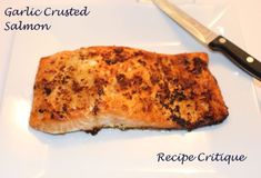 Crispy garlic crusted salmon is super quick and easy to make and will satisfy the seafood lover. No Salt Salmon Recipe, Salmon Recipes, Fish Recipes, Seafood Recipes, Cooking Recipes, Healthy Recipes, Healthy Meals, My Favorite Food, Favorite Recipes