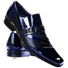 Sapato Social Couro Envernizado Masculino Stilo Italiano - R$ 159,90