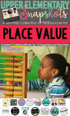 This Place Value Math ebook is loaded with FREE activities by the teachers at Upper Elementary Snapshots. Perfect for any teacher Place Value in Upper Elementary!