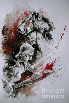 300 Spartan Cartoon Art Greek Warrior Abstract by SamuraiArt Greek Paintings, Original Paintings, Spartan Tattoo, Spartan Warrior, Spartan Helmet, Trash Polka Tattoo, Greek Warrior, Warrior Tattoos, Abstract Drawings