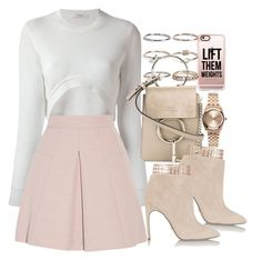 """Untitled #1725"" by victoriamk ❤ liked on Polyvore featuring Casetify, Boohoo, Givenchy, Alexander McQueen, Chloé, Sergio Rossi, Nixon and pleatedskirts"