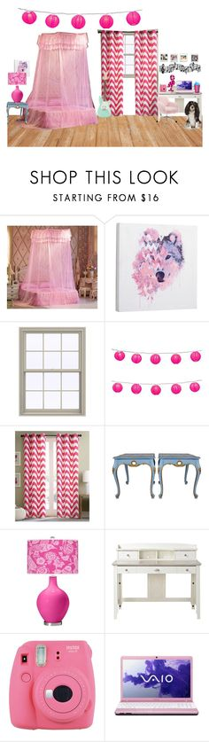 """Esmeralda's room"" by gryffindormermaid ❤ liked on Polyvore featuring interior, interiors, interior design, home, home decor, interior decorating, PBteen, Intelligent Design, Homestar and Fuji"