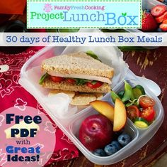 #projectlunchbox | MarlaMeridith.com: 30 Days of Healthy Meals | FREE…