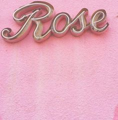"""""""Rose"""" neon sign on pink wall. Awesome thing is I'm going to name my first daughter Rose, after Rose Tyler. So this would be good to hang in her room. Pink Love, Pretty In Pink, Drink Pink, Tout Rose, Rose Bonbon, Rose Pastel, Girly, Photocollage, Rose Tyler"""