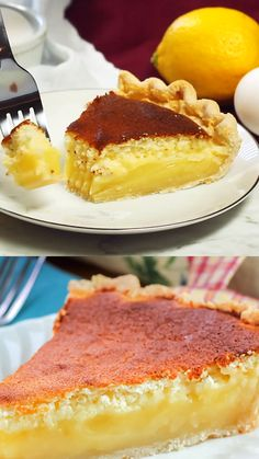 This Lemon Sponge Pie is an easy pie recipe with refreshing lemon flavor and light and airy texture. It makes a deliciously light treat. recipes classic recipes easy recipes easy homemade recipes easy philadelphia recipes new york recipes no bake Easy Pie Recipes, Quick Easy Desserts, Lemon Recipes, Tart Recipes, Best Dessert Recipes, Cheesecake Recipes, Homemade Cheesecake, Köstliche Desserts, Delicious Desserts