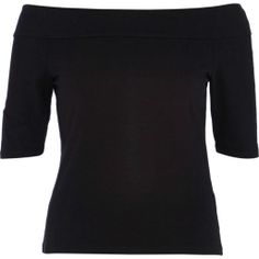 Black bardot top Black Bardot Top, Nordic Sweater, River Island Fashion, Latest Clothing Trends, Going Out Tops, Festival Looks, New Outfits, My Wardrobe, Long Sleeve Tops
