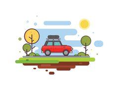 Ideas Cars Illustration Kids Graphics For 2019 Auto Illustration, Flat Design Illustration, Family Illustration, Simple Illustration, Car Animation, Kids Graphics, Custom Car Interior, Cute Car Accessories, Affinity Designer